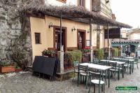 Installazione pergola in pvc ed alluminio anodizzato nero per dehor ristorante - Osteria Cantinella - Trevignano Romano - Lago di Bracciano - Roma