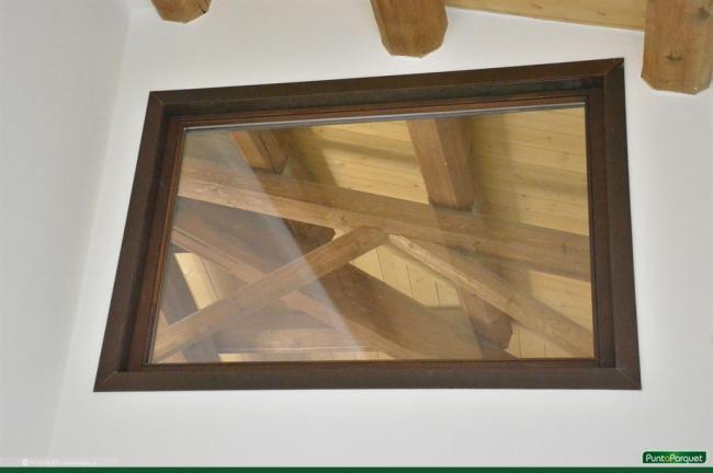 Infissi in legno, colorazione ad impregnante - Punto Parquet Terni