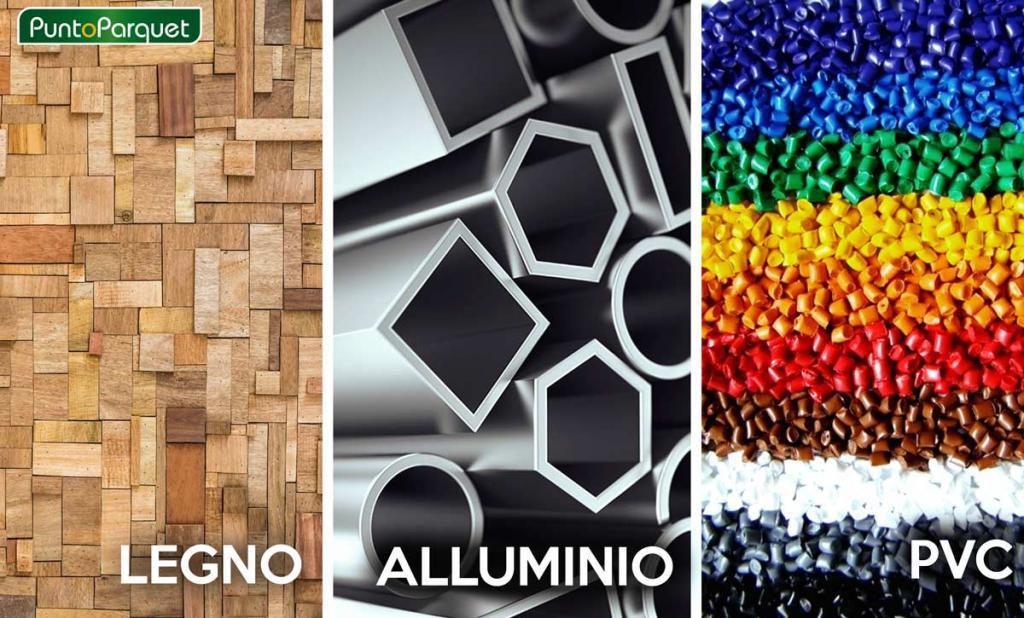 Materiali di costruzione per infissi e serramenti in legno, alluminio, PVC e combinati a Terni