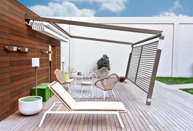 pergotenda-legno-teck-alluminio-acciaio-marrone-bianco